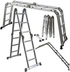 Aluminum Scaffold Ladder 12.5 ft Multi Purpose $50.95 (ebay.com)