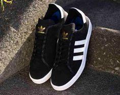 adidas Originals Campus AS   Black   White   Gold