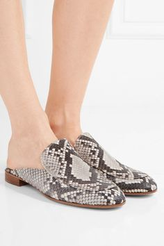 Gianvito Rossi - Python Slippers - Snake print - IT35.5
