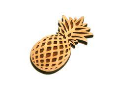 Ansteckbroschen - Brosche Holzbrosche Ananas-Brosche - ein Designerstück von DeineSchmuckFreundin bei DaWanda