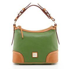19dccd5661f4 Dooney  amp  Bourke Leather Hobo Bag - Emerald