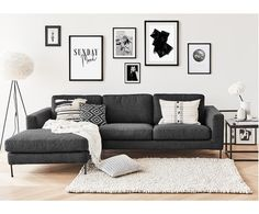 "Ecksofa Cucita, Eckteil rechts in Dunkelgrau >> WestwingNow > WestwingNow""> Corner sofa Cucita, corner piece right in dark gray >> WestwingNow Living Room Grey, Living Room Sofa, Home Living Room, Living Room Designs, Living Room Decor With Grey Couch, Charcoal Sofa Living Room, Living Room Decor Ikea, Dining Room, Living Room Inspiration"