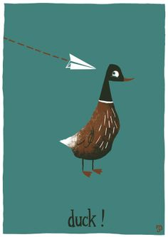 Ducking around by Matt Dawson Duck Illustration, Duck Pictures, Robin, Funny Doodles, Kids Story Books, Typography Poster, Cartoon Styles, Animal Paintings, Beautiful Artwork