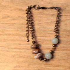 Bracelet perles amazonite et jaspe