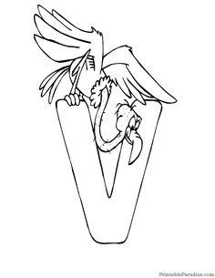 Print Free Large Coloring Page Of The Letter V Alphabet To Use For Kids Sheet In