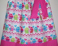 Valentines Day Dress Girls Dress Pillowcase by lilsweetieboutique