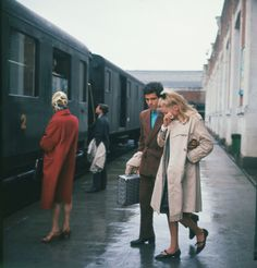 The Umbrellas of Cherbourg (1964) The lovers say goodbye as Guy is going to Algeria for 2 years in the service. They promise to name their first child, Francoise.