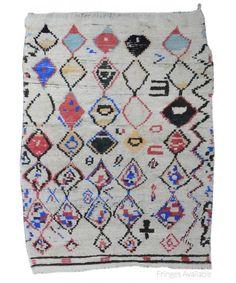 "Vintage Moroccan Shag Rug X2964-Design# 2223, Size- 3'-11"" x 5'-3"""