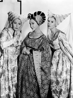 "Cinderella stepsisters and stepmother: Pat Carroll, Jo Van Fleet and Barbara Ruick.The1965 adaptation of Rodgers & Hammerstein's musical, ""Cinderella""."