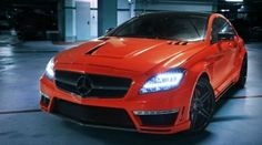 Nice Mercedes: GSC Orange Mercedes CLS 63 AMG rides...  Muscle cars & hot rods