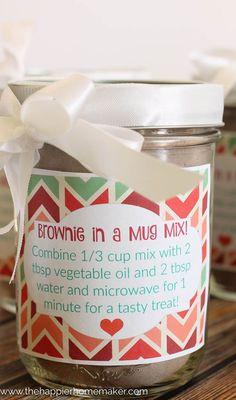 Brownie in a Mug DIY Gift-4