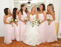 Bride and her ladies.  Photo by April Rose Photography Copyright 2015