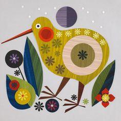 bird design Tattoo Simple is part of Adorable Bird Tattoo Designs For The Bird Lover - layered paper bird Motif Vintage, Nz Art, Maori Art, Bird Illustration, Illustrations, Paper Birds, Bird Design, Whimsical Art, Bird Art