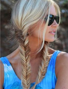 Fishtail braids make pigtails look sophisticated.