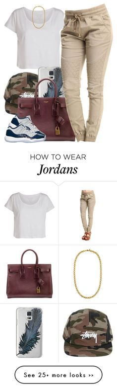 """Untitled #722"" by cjasmyne on Polyvore featuring Pieces, Stussy, Casetify, Yves Saint Laurent and Juicy Couture"