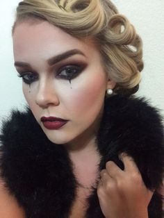 Image result for vintage circus makeup