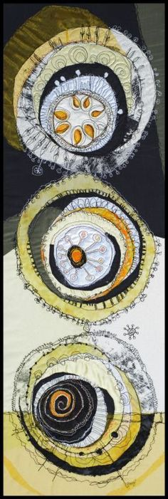 Ideas Embroidery Inspiration Hand Stitching Textile Art For 2019 Art Fibres Textiles, Textile Fiber Art, Textile Artists, Fiber Art Quilts, Free Motion Embroidery, Embroidery Art, Circle Quilts, Quilt Modernen, Thread Painting