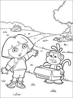 Dora The Explorer Coloring Pages 102