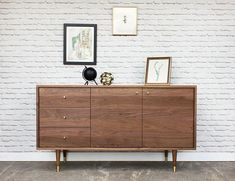 $50 delivery to NYC. Outside of NYC? Choose your shipping option at checkout!  The Bristol is an ageless piece of furniture. This credenza will be in your family for generations.  Made with solid walnut wood. No particleboard, MDF or plywood, this piece is made with solid wood all around