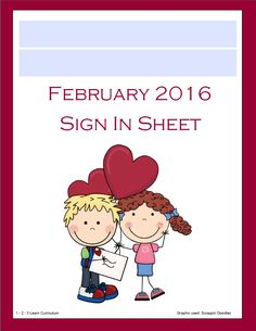 Sign in sheets available as a free download on 1 - 2 - 3 Learn Curriculum. 2 different templates for each month, plus a cover sheet for your sign in book. You have the option to type your child care/ preschool name onto the cover or type with out name. Either way  1 - 2 - 3 Learn Curriculum has you covered! Click on the picture to access 1 - 2- 3 Learn Curriculum web site - then click on Free Downloads. Sign in sheets are to the left side of the free download page. Thank you!