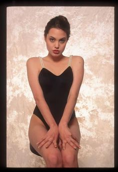 Angelina Jolie as photographed by Sean McCall. 1990.