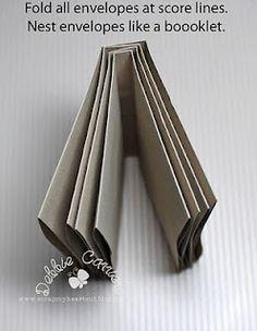 envelope accordian booklet