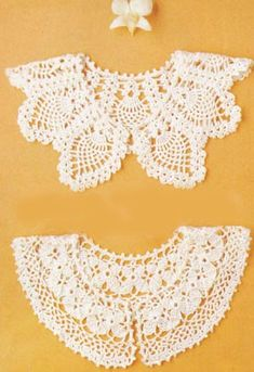 Crochet collar pattern with chart. Crochet Collar Pattern, Col Crochet, Crochet Lace Collar, Crochet Blouse, Thread Crochet, Crochet Shawl, Crochet Doilies, Hand Crochet, Crocheted Lace