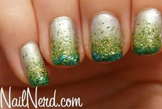 Saint Patricks Day Nail Art : Lucky Magazine