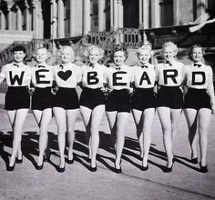 Very cool ladies, but what about a man with a beard?..... Or does that depend on the man in question?