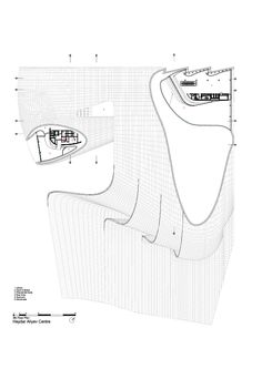 Image 39 of 52 from gallery of Heydar Aliyev Center / Zaha Hadid Architects. Site Plan + Section Zaha Hadid Architecture, Architecture Plan, Organic Architecture, Arquitectos Zaha Hadid, African Art Projects, Art Deco Living Room, Pop Art Fashion, Art Deco Mirror, Famous Architects
