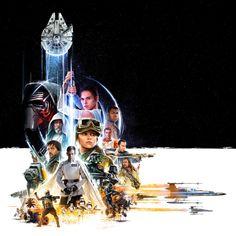Speciale 'Star Wars'-poster verbindt 'Rogue One' met 'VIII' - FilmTotaal filmnieuws