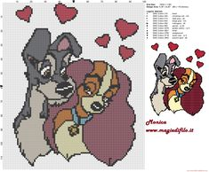 Lady and the Tramp 2 cross stitch pattern