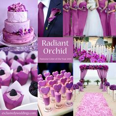 Radiant Orchid - Pantone Color of the Year - A great color for a wedding! | #exclusivelyweddings