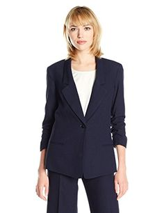 My Wonderful World Womens Candy Color Slim Work Blazer Suit XXXLarge Black >>> Click on the image for additional details. (This is an affiliate link)
