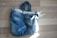 Re-use your old jeans! Old Jeans, Reusable Tote Bags, Fashion, Moda, Fashion Styles, Fashion Illustrations, Fashion Models