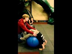 video - using the therapy ball for sensory activities
