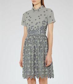 REISS - EMERSON PIQUE FLORAL DRESS