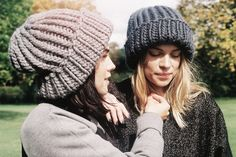GANG SERIES I Sisters Beck & Elle wear the Portobello Beanie. #woolandthegang #madeunique
