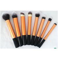 8 pieza kit de cepillo de maquillaje cosmético del oro , sistema de cepillo de alta calidad profesional