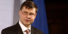 """Dombrovskis: """"Encargos com a dívida grega estão abaixo dos de Portugal"""""""