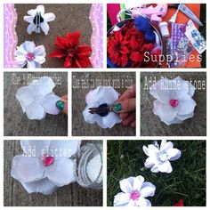 Lovely flower clips for your hair
