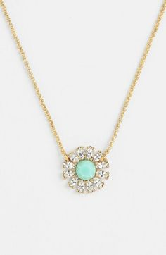 Free shipping and returns on kate spade new york 'estate garden' pendant necklace at Nordstrom.com. Warm goldtone chains carry a flower-inspired pendant of sparkling marquise crystals and a colorful, faceted stone.