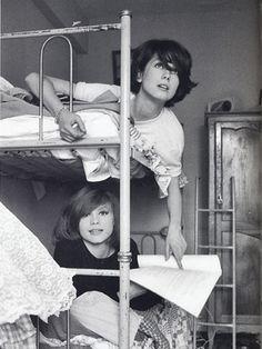 カトリーヌ・ドヌーブと姉フランソワーズ。ドルレアックとのツーショット