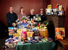 The Bainton family from Wiltshire in the UK spend around £160 on their weekly food.
