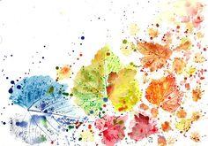 #watercolor #decor #decorative #wall #leaf #leaves #autumn #fall #painting #artprint #print #Blätter #Aquarell #dekorativ #Wand #Blatt #Herbst #fallen #Malerei #Kunstdruck #Druck