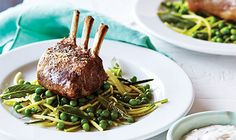 Lamb Cutlets with a Zucchini, Pea and Mint Salad
