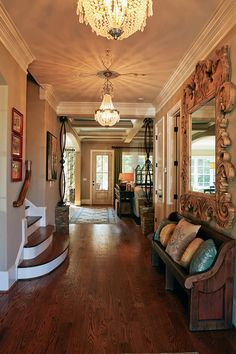 love the warmth of this foyer