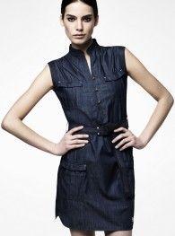 RAW CORRECT LINE SAFARI CAPSLEEVE DRESS
