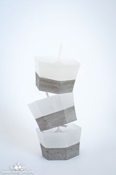 concrete candles DIY! נרות בטון ושעווה – הדרכה | Evenyaru