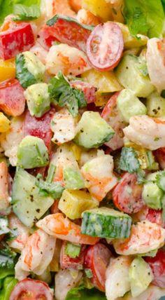 greek yogurt shrimp avocado salad